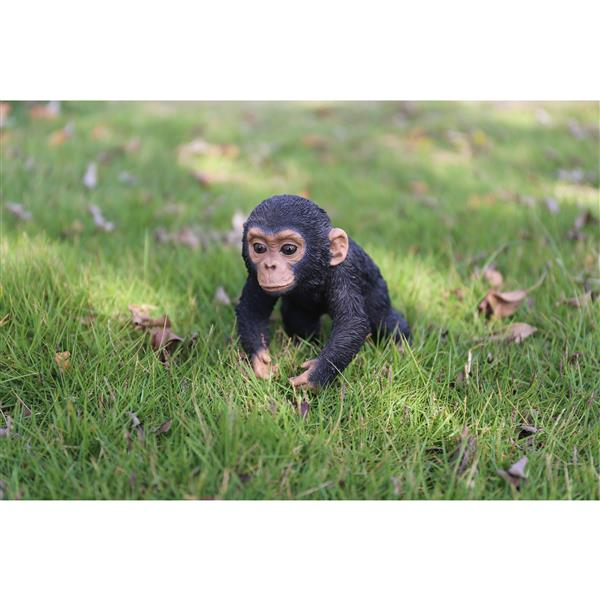 "Hi-Line Gift Decorative Garden Statue - Baby Chimpanzee - 5"""