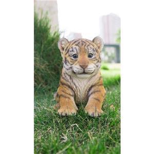 "Statue de jardin, bébé tigre assis, 5,75"""