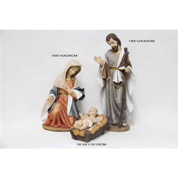 Hi-Line Gift 3-Piece Nativity Set Statue