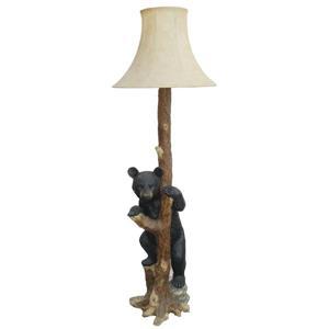 Lampe sur pied, ourson noir, brun