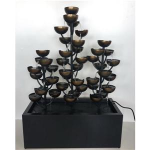 Fontaine de jardin, multi-niveaux, bronze