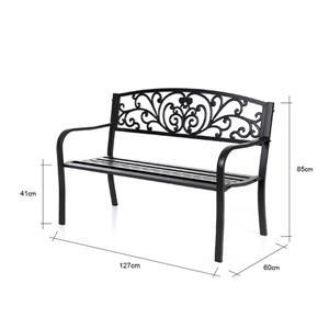 "Hi-Line Gift Garden Bench - Black - 50"""
