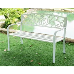 """Hi-Line Gift Garden Bench - Blanc - 50"""""""