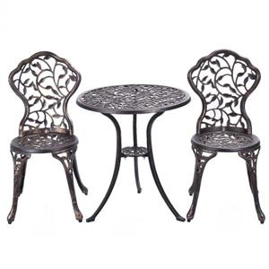 Hi-Line Gift Bistro Set - 3 Pieces - Bronze
