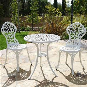 Hi-Line Gift Bistro Set - 3 Pieces - White