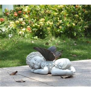 "Hi-Line Gift Decorative Garden Statue - Baby Fairy Sleeping - 5.25"""