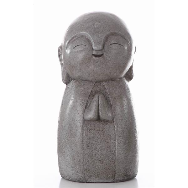 "Hi-Line Gift Decorative Garden Statue - Praying Lucky Japanese Jizo - 24"""