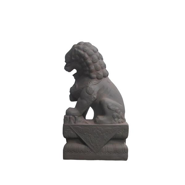Hi-Line Gift Decorative Garden Statue - Foo Dog - Left Paw On Ball - 25""
