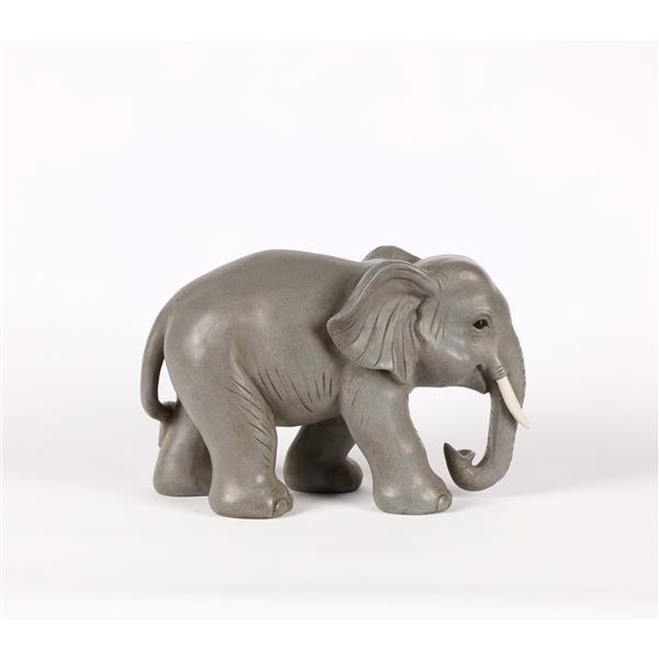 "Hi-Line Gift Decorative Garden Statue - Little Elephant - Grey - 11"""