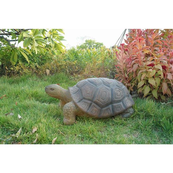 "Hi-Line Gift Decorative Garden Statue - Green Turtle - 9"" x 21"""