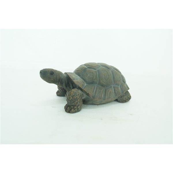 "Hi-Line Gift Decorative Garden Statue - Green Turtle - 4"" x 10"""