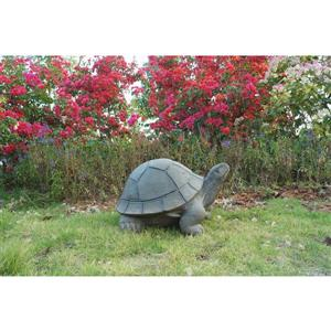 "Statue de jardin, tortue verte, 10,5"" x 18"""
