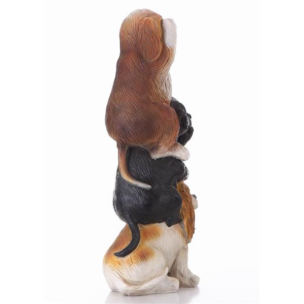 "Hi-Line Gift Decorative Garden Statue - 3 Little Puppies - 21.25"""
