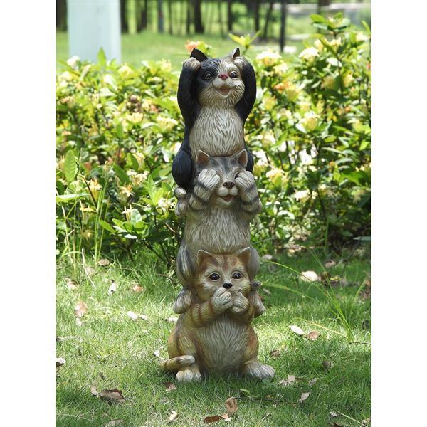 "Hi-Line Gift Decorative Garden Statue - 3 Little Kittens - 22.25"""
