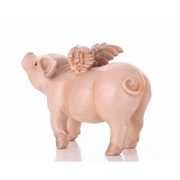 """Statue de jardin, cochonnet avec des ailes, 8,87"""""""