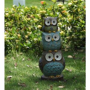 Hi-Line Gift Decorative Garden Statue - Stacked Owls - 17.75""