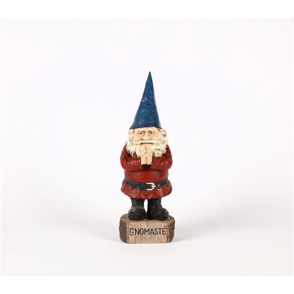 "Hi-Line Gift Decorative Garden Statue - Prayer Gnome - 16.13"""