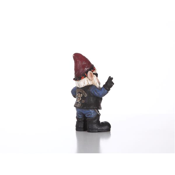 """Hi-Line Gift Decorative Garden Statue - Male Gnome Biker - 10.25"""""""