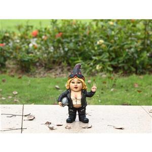 "Statue de jardin, naine motarde rebelle, 10,26"""