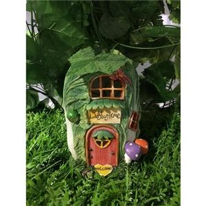 Hi-Line Gift Decorative Garden Statue - Fairy Garden Cabbage House- 7""