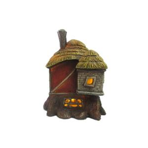 Hi-Line Gift Decorative Garden Statue - Fairy Garden Red Barn - LED - 6""