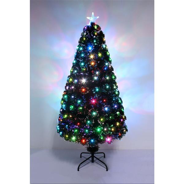 "Hi-Line Gift Christmas Tree - Fiber Optic Multi-Color - 72"""