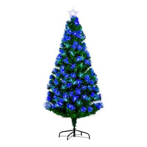 Hi-Line Gift Christmas Tree - Blue and White Fiber Optic - 72""