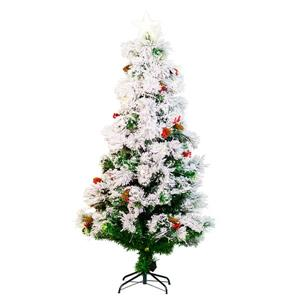 Hi-Line Gift Christmas Tree - Fiber Optic - White - 72""