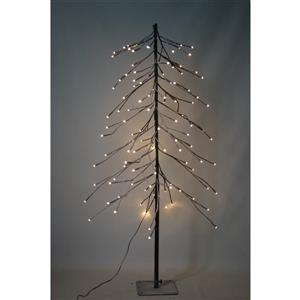 Hi-Line Gift 8-Function Inverted Black Tree - 112 LED Lights