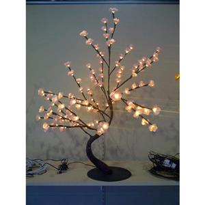 Hi-Line Gift Lighted Pink Cherry Blossom Bonsai Tree - 128 LED Lights