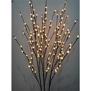 Hi-Line Gift Lighted Willow Tree - 3-Branch - 144 LED Lights