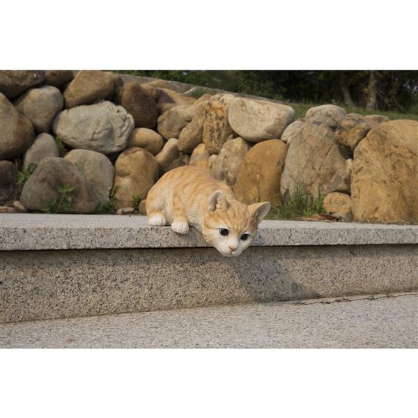 "Hi-Line Gift Decorative Garden Statue - Red Tabby Cat- 4.52"""