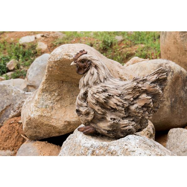 Hi-Line Gift Squatting Hen Statue