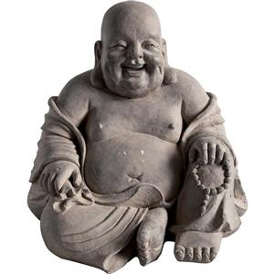 "Hi-Line Gift Decorative Garden Statue - Laughing Buddha - 17"""