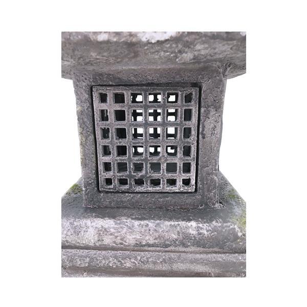 "Hi-Line Gift Decorative Garden Statue - Grey Stone Lantern - 26"""