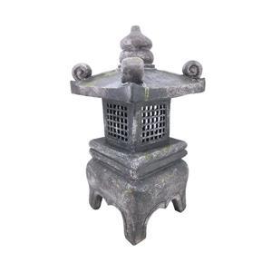 "Statue de jardin, lanterne en pierre grise, 26"""