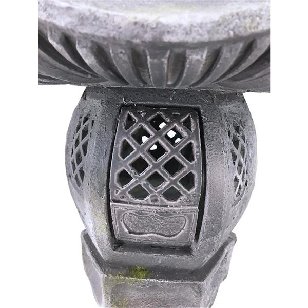 "Hi-Line Gift Decorative Garden Statue - Grey Stone Lantern - 36"""