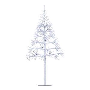 Hi-Line Gift Silver Christmas Tree - 380 Sparkling LED Lights