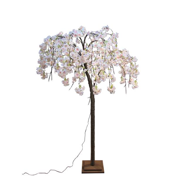 Hi-Line Gift Medium Pink Cherry Blossom Tree - 84 LED Lights