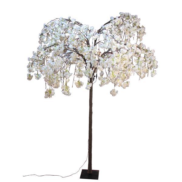 Hi-Line Gift Large White Cherry Blossom Tree - 288 LED Lights
