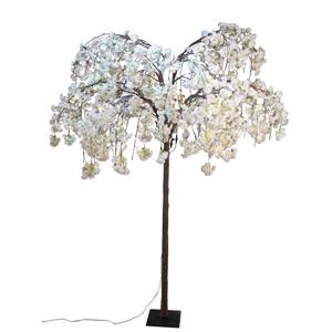 Hi-Line Gift Large White Cherry Blossom Tree - 288 LED Lights
