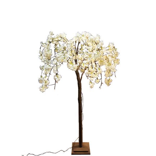 Hi-Line Gift Medium White Cherry Blossom Tree - 84 LED Lights