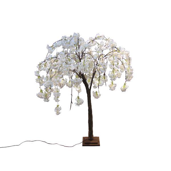 Hi-Line Gift Small White Cherry Blossom Tree - 66 LED Lights