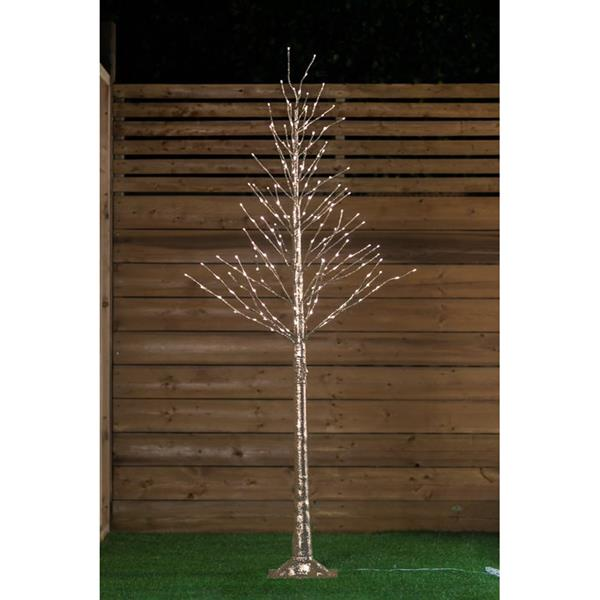 Hi-Line Gift Gold Glitter Tree - 192 LED Lights - 72""