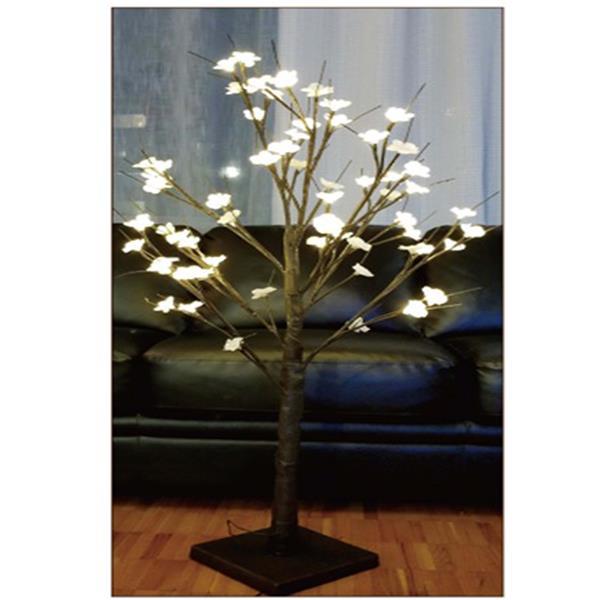 Hi-Line Gift Artifical Plum Tree - 48 LED White Lights - 4 ft