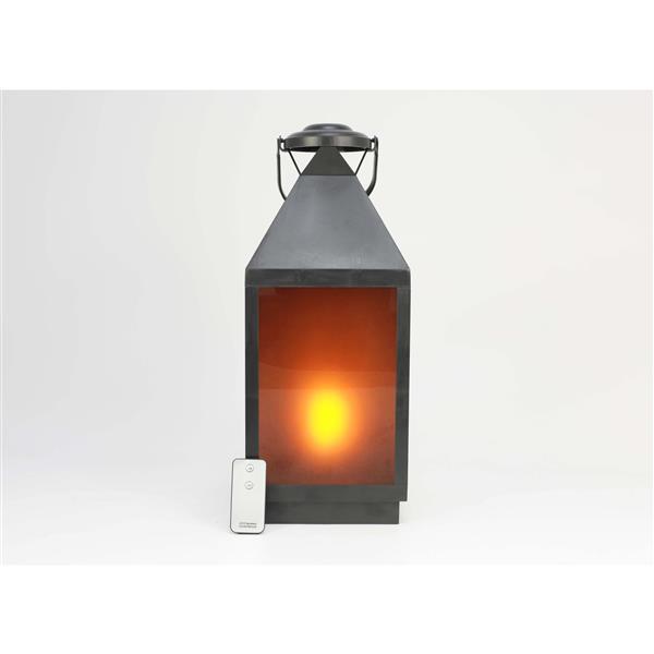Hi-line Gift Ltd. Hi-Line Gift Outdoor Lantern - LED Light - Black - 18 36187-S