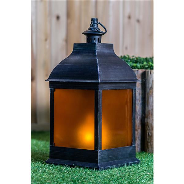 Hi-line Gift Ltd. Hi-Line Gift Outdoor Lantern - LED Light - silver - 20 36188-AS