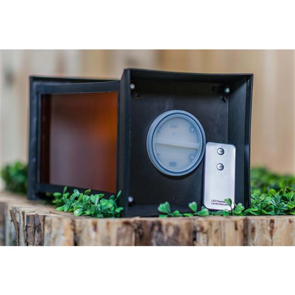 "Hi-Line Gift Outdoor Lantern - LED Light - Black - 16"""