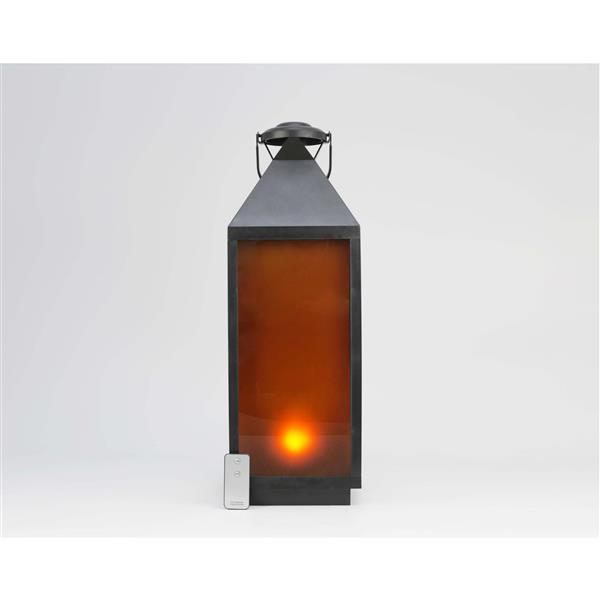 Hi-line Gift Ltd. Hi-Line Gift Outdoor Lantern - LED Light - Black - 24 36187-L