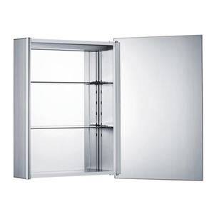 Whitehaus Collection Medicinehaus Single Door Medicine Cabinet - LED - Aluminum